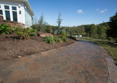 Interlocking paved walkway by Frederick Landscaping Maryland