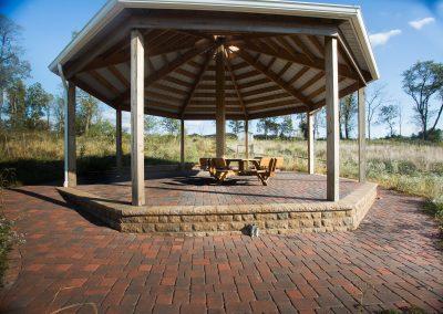 Hardscaped paver patio and gazebo platform by Frederick Landscaping Maryland