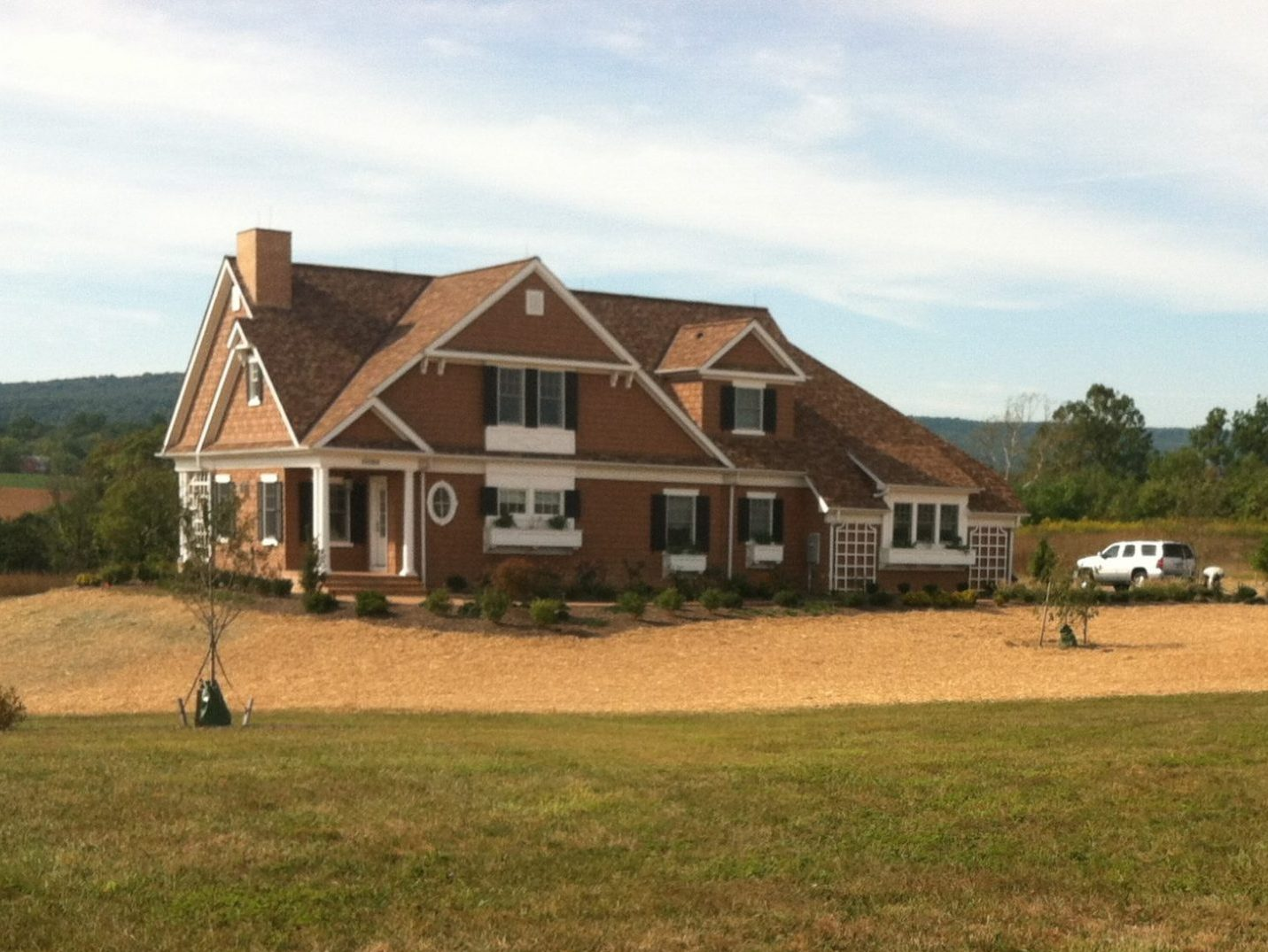 Grading and seeding by Frederick Landscaping in Frederick Maryland