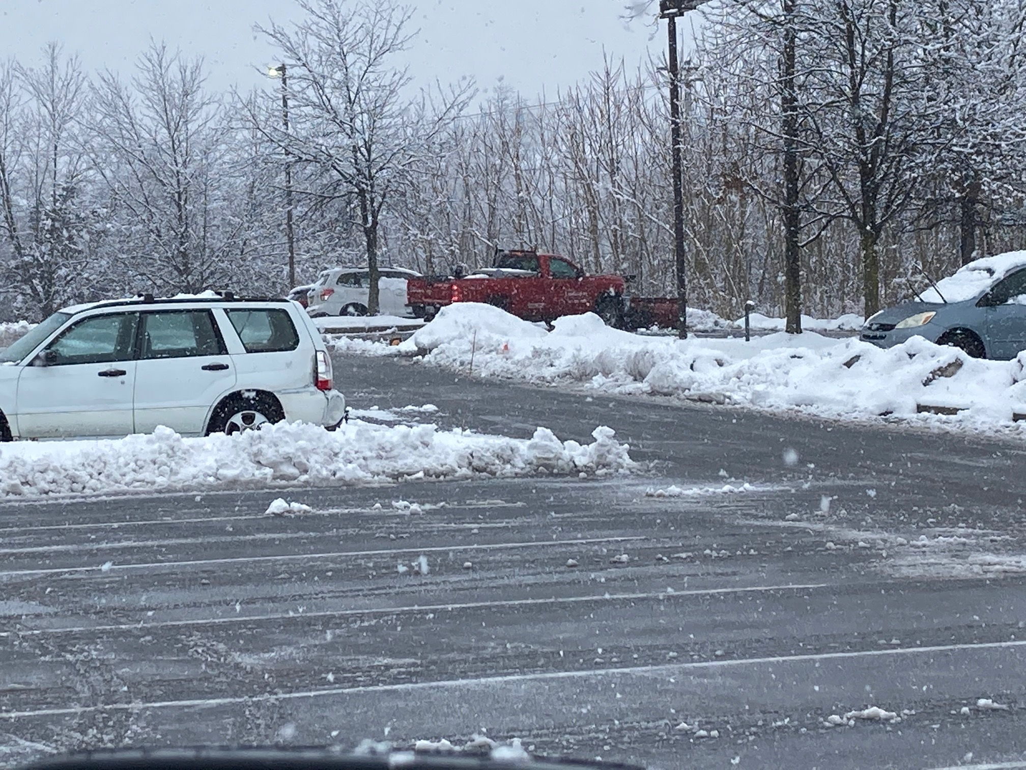 snow removal from parking lot in MD